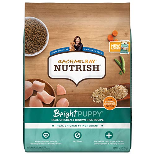 Rachael Ray Nutrish Bright Puppy Premium Natural Dry Dog Food, Real Chicken & Brown Rice Recipe, 6 Pounds (Packaging May...