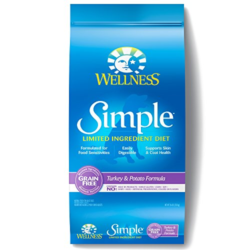 Wellness Simple Natural Grain Free Limited Ingredient Dry Dog Food, Turkey and Potato Recipe, 26-Pound Bag