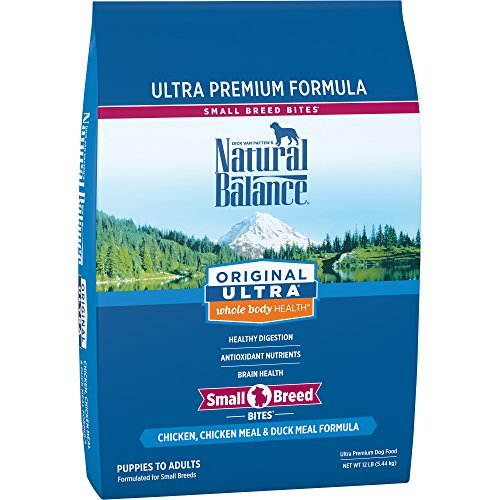 Natural Balance Original Ultra Chicken, Chicken Meal & Duck Meal Formula Dry Dog Food for Small Breeds, 12 Pounds