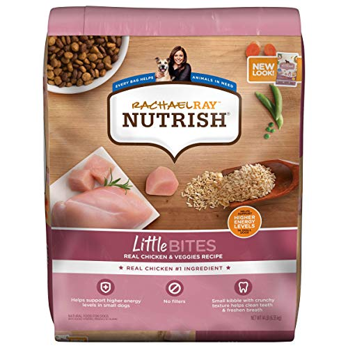 Rachael Ray Nutrish Little Bites Small Breed Premium Natural Dry Dog Food, Real Chicken & Veggies Recipe, 14 Pounds...