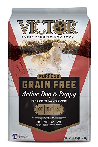 VICTOR Purpose - Grain Free Active Dog & Puppy, Dry Dog Food 30 lbs