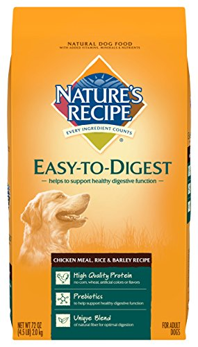 Nature's Recipe Easy to Digest Dry Dog Food, Chicken Meal, Rice & Barley Recipe, 4.5-Pound