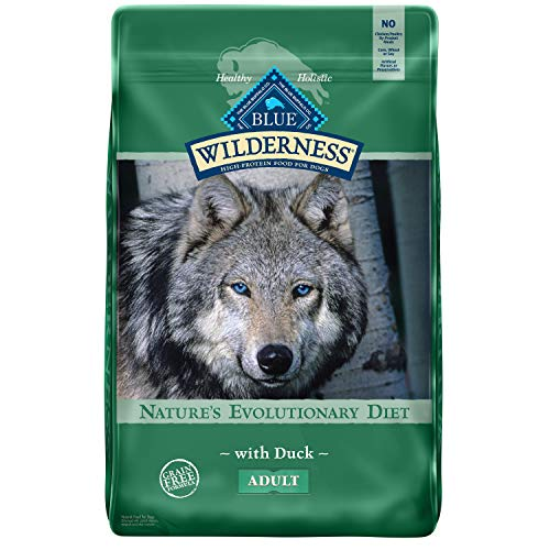 Blue Buffalo Wilderness High Protein Grain Free Natural Adult Dry Dog Food, Duck 24-lb