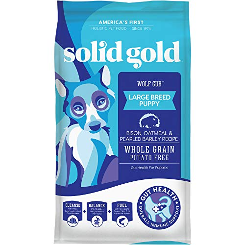 Solid Gold - Wolf Cub - Natural Large Breed Puppy Food - Real Bison and Oatmeal - Potato Free - 24 lb