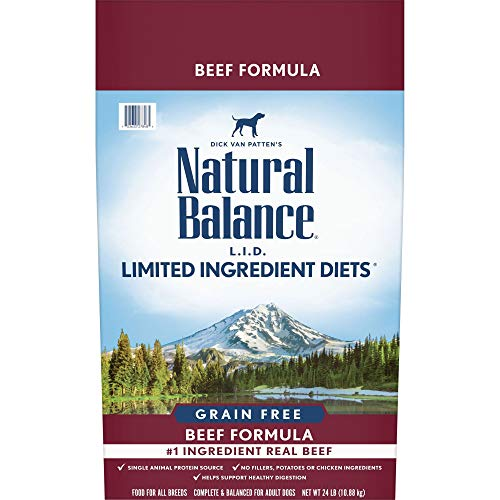 Natural Balance L.I.D. Limited Ingredient Diets Dry Dog Food, Beef Formula, 24 Pounds, Grain Free