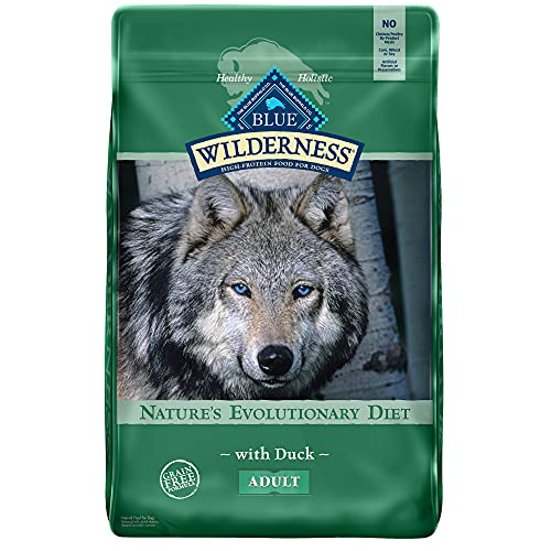 Blue Buffalo Wilderness High Protein, Natural Adult Dry Dog Food, Duck 24-lb