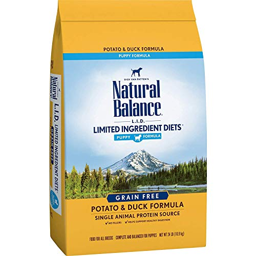 Natural Balance L.I.D. Limited Ingredient Diets Dry Dog Food for Puppies, Potato & Duck Formula, 24 Pounds