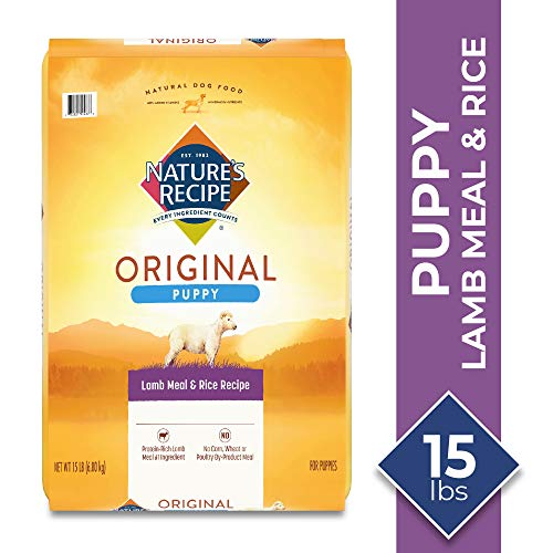 Nature's Recipe Dry Dog Food for Puppies, Lamb Meal & Rice Recipe, 15 Pounds(Packaging may vary)