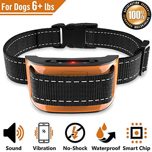 NPS No Shock Bark Collar for Small to Large Dogs - Smart Chip Adjusts to Stop Barking in 1 Minute - Highly Effective...