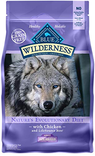 Blue Buffalo Wilderness High Protein Grain Free Natural Adult Toy Breed Dry Dog Food, Chicken 4-lb