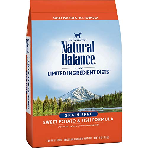 Natural Balance L.I.D. Limited Ingredient Diets Dry Dog Food, Sweet Potato & Fish Formula, 26 Pounds, Grain Free
