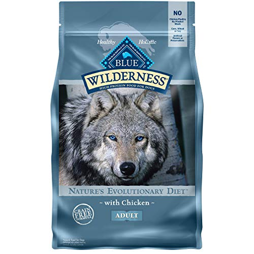 Blue Buffalo Wilderness High Protein Grain Free Natural Adult Dry Dog Food, Chicken 4.5-lb