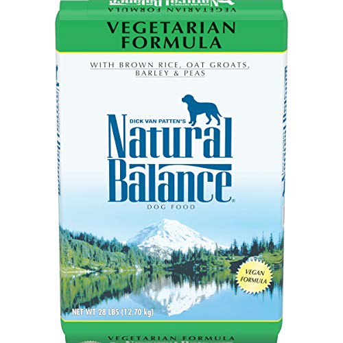 Natural Balance Vegetarian Formula Dry Dog Food, with Brown Rice, Oat Groats, Barley & Peas, 28 Pounds, Vegan