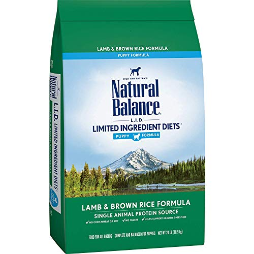 Natural Balance L.I.D. Limited Ingredient Diets Dry Dog Food for Puppies, Lamb & Brown Rice Formula, 24 Pounds
