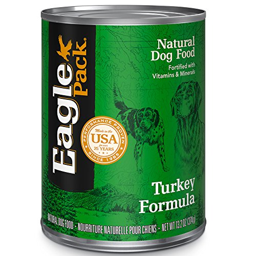 Eagle Pack Natural Wet Canned Dog Food, Turkey, 13.2-Ounce Can (Pack Of 12)