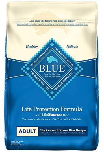 Blue Buffalo Life Protection Formula Adult Dog Food  Natural Dry Dog Food for Adult Dogs  Chicken and Brown Rice  30 lb....
