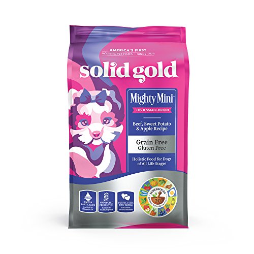 Solid Gold Mighty Mini - Sensitive Stomach - Probiotic Support - Grain-Free - Natural Holistic Dog Food for Toy & Small...