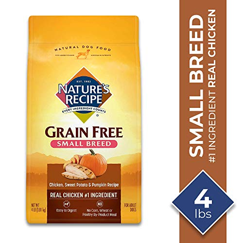 Nature's Recipe Small Breed Dry Dog Food, Chicken, Sweet Potato & Pumpkin Recipe, 4 Pounds, Grain Free