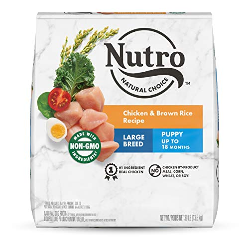 NUTRO NATURAL CHOICE Large Breed Puppy Dry Dog Food, Chicken & Brown Rice Recipe Dog Kibble, 30 lb. Bag