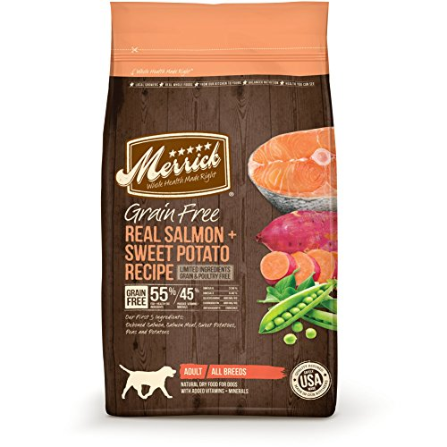 Merrick Grain Free Dry Dog Food Recipes, Salmon, 4 Pound