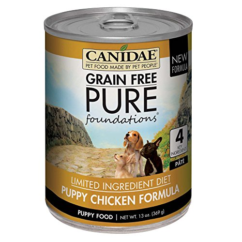CANIDAE Grain Free PURE Foundations Puppy Wet Formula with Chicken, 13 oz (12-pack)