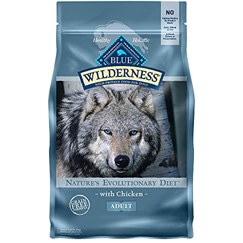 Blue Buffalo Wilderness High Protein, Natural Adult Dry Dog Food, Chicken 4.5-lb