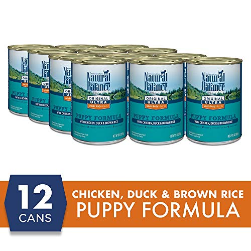 Natural Balance Original Ultra Whole Body Health Wet Dog Food for Puppies, Chicken, Duck & Brown Rice Formula, 13 Ounce...