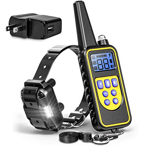 F-color Dog Training Collar, Rechargeable Waterproof Dog Shock Collar for Dogs with Remote 2600ft,with Beep Vibrating...