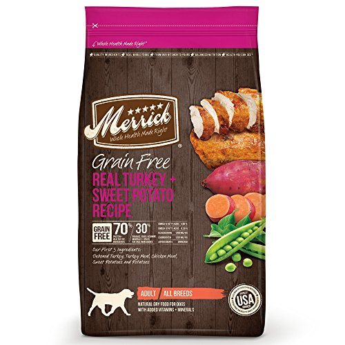 Merrick Grain Free Dry Dog Food Recipes, Turkey, 25 Pound