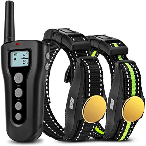 Bousnic Dog Training Collar 2 Dogs Upgraded 1000ft Remote Rechargeable Waterproof Electric Shock Collar with Beep...