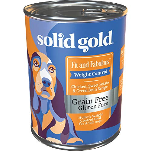 Solid Gold - Fit and Fabulous with Chicken - Grain Free Weight Control Wet Dog Food - 13.2-oz can 6 Count, Wet 13.2 oz...