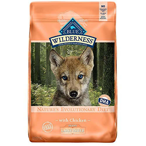 Blue Buffalo Wilderness High Protein, Natural Puppy Large Breed Dry Dog Food, Chicken 24-lb