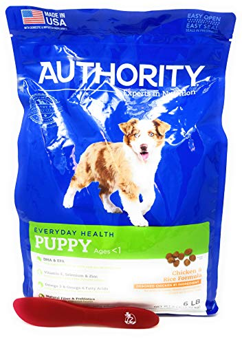 Authority Puppy Dry Dog Food (Chicken and Rice) 6lbs and Especiales Cosas Mixing Spatula