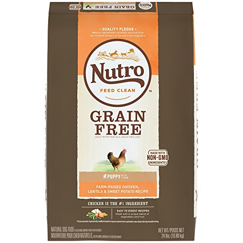 Nutro Grain Free Puppy Farm-Raised Chicken, Lentils And Sweet Potato Dry Dog Food 24 Pounds (Discontinued By...