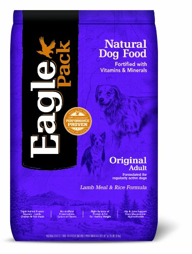 Eagle Pack Natural Pet Food, Original Adult Lamb Meal And Rice Formula For Dogs, 30-Pound Bag