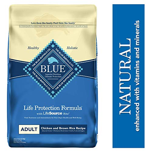 Blue Buffalo Life Protection Formula Adult Dog Food – Natural Dry Dog Food for Adult Dogs – Chicken and Brown Rice...