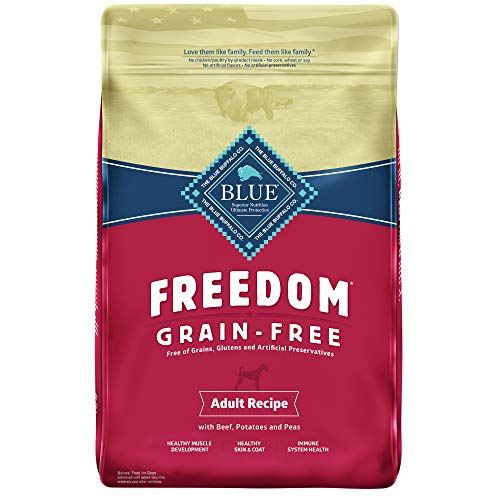 Blue Buffalo Freedom Grain Free Recipe for Dog, Beef Recipe, 24 lb