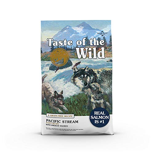Taste of the Wild Pacific Stream Canine Grain-Free Recipe with Smoked Salmon Dry Dog Food, for Growing Puppies, Made...