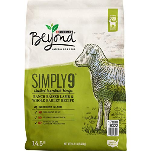 Purina Beyond Limited Ingredient, Natural Dry Dog Food, Simply 9 Ranch Raised Lamb & Barley Recipe - 14.5 lb. Bag