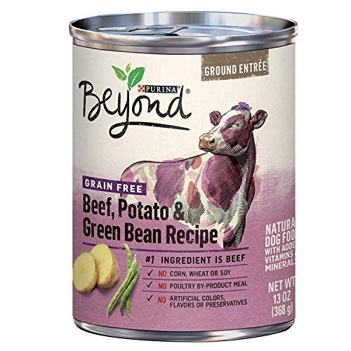 Purina Beyond Grain Free, Natural Pate Wet Dog Food, Grain Free Beef, Potato & Green Bean Recipe - (12) 13 oz. Cans