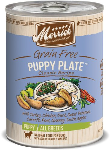 Merrick Classic Grain Free Puppy Plate Wet Puppy Food, 13.2 Oz, Case Of 12 Cans