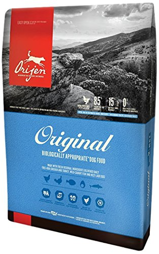 Orijen 4.5 LB Dry Dog Food, Original Formula. 4.5 LB. Bag, (Fresh Free-Run Chicken Turkey, Wild-Caught Fish NEST-Laid...