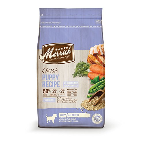Merrick Dry Puppy Food with Healthy Grains; Added Vitamins & Minerals for All Breeds, 12 lbs.