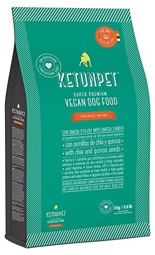 KetunPet Vegan Dog Food - Adult - 6.6 and 22 lbs (Big 22 Lbs)