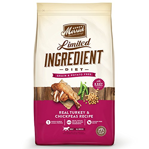Merrick Dry Dog Food with Vitamins & Minerals for All Breeds , 22 lb, Turkey