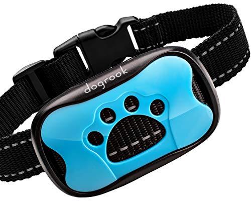 DogRook Rechargeable Dog Bark Collar - Humane, No Shock Barking Collar - w/2 Vibration & Beep Modes - Small, Medium,...