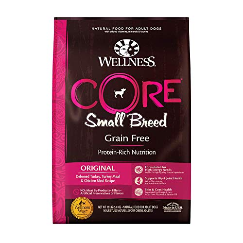 Wellness CORE Natural Grain Free Dry Dog Food, Small Breed, 12-Pound Bag