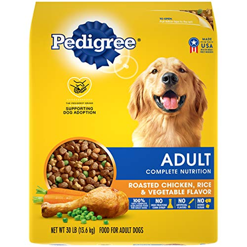 PEDIGREE Complete Nutrition Adult Dry Dog Food Roasted Chicken, Rice & Vegetable Flavor Dog Kibble, 30 lb. Bag