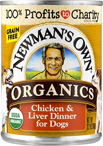 Newman's Own Chicken & Liver Dinner For Dogs, Size: 12.7-Ounce (Pack of 12)