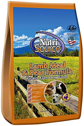 Nutri Source Lamb Meal & Peas Formula Dog Food, Grain Free, 5 lb, for Dogs